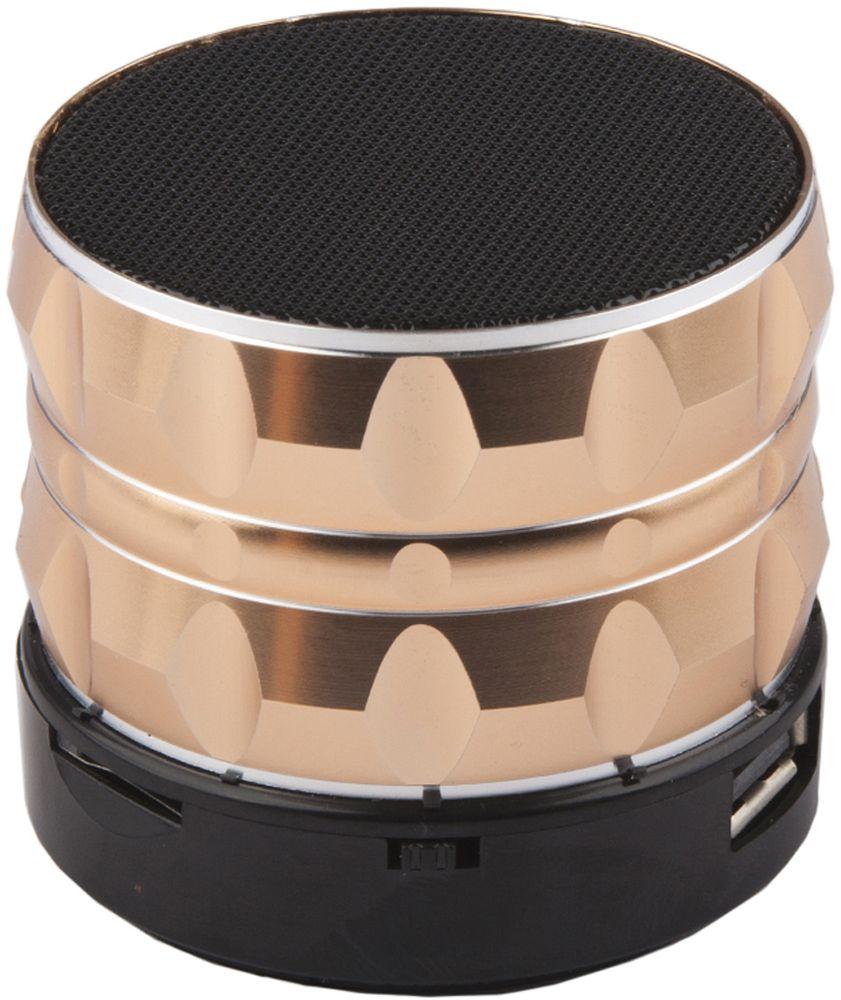 Liberty Project S14, Gold портативная Bluetooth-колонка0L-00027075Портативная Bluetooth-колонка Liberty Project S14 имеет легкий и прочный корпус из пластика, а также поддержку технологии беспроводной связи Bluetooth. Модель оснащена встроенным FM радио, и микрофоном для использования в качестве гарнитуры.Емкость: 500 мАч