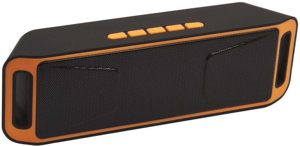Liberty Project S208, Black Orange портативная Bluetooth-колонка0L-00029222Беспроводная колонка Liberty Project S208 станет отличным выбором для ценителей необычного дизайна и широкой функциональности. Слушайте любимую музыку и принимайте телефонные звонки в течении почти 6 часов на одной подзарядке, подключайтесь к устройствам по беспроводной связи Bluetooth, воспроизводите музыку с карт памяти microSD или USB накопителей. Также колонку можно использовать через AUX-подключение. Наслаждайтесь абсолютной легкостью и мобильностью.
