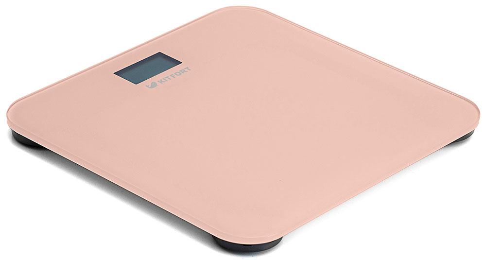 Kitfort КТ-804-3, Beige весы напольныеКТ-804-3Электронные напольные весы Kitfort КТ-804 обеспечивают высокую точность измерения и станут неизменным спутником для людей, следящих за своим весом. Весы оснащены жидкокристаллическим дисплеем с крупными цифрами, что делает их использование максимально удобным. Платформа выполнена из высокопрочного полированного стекла, а прорезиненные ножки обеспечивают весам дополнительную устойчивость и предотвращают их скольжение по полу, что гарантирует безопасность во время взвешивания.Включение и выключение весов Kitfort КТ-804 происходит автоматически. После взвешивания показания весов фиксируются. При каждом включении весы автоматически калибруются и тарируются для обеспечения большей точности показаний. Весы имеют яркий привлекательный дизайн, благодаря чему украсят собой любой интерьер.Минимальный вес: 2,5 кг