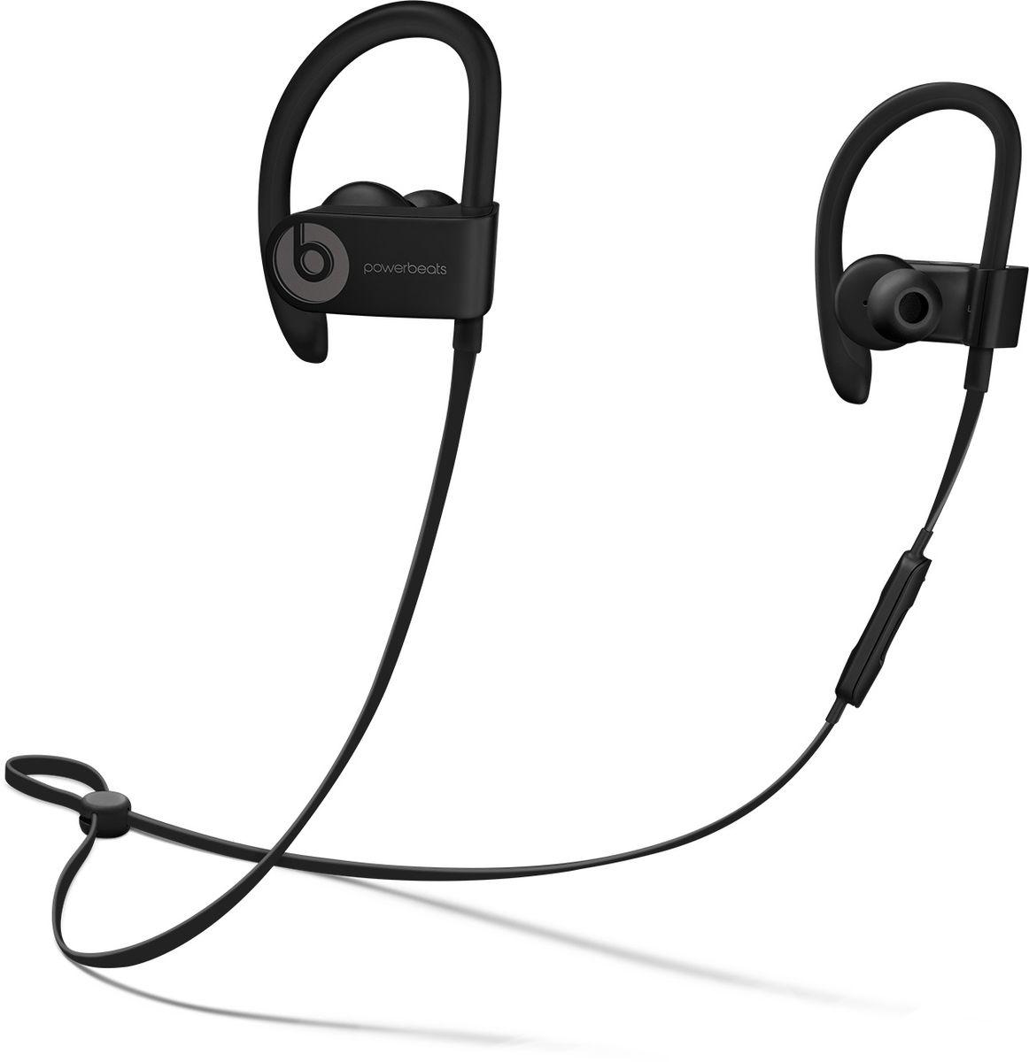 Beats Powerbeats 3 Wireless, Black наушникиML8V2ZE/AБеспроводные наушники Powerbeats 3 Wireless работают до 12 часов от аккумулятора - они готовы к любым нагрузкам. С ними вы заряжены на длительные интенсивные тренировки. Их мощный звук даст вам силы и энергию двигаться только вперед.Apple и Beats переворачивают наше представление о музыке с новой технологией Apple W1. Оснащенные встроенным чипом W1 наушники Powerbeats 3 легко подключаются к любому устройству Apple, дольше работают без аккумулятора и заряжаются всего за 5 минут благодаря технологии Fast Fuel.С функцией Fast Fuel вы сможете тренироваться ещё дольше и тратить меньше времени на зарядку. 5-минутной подзарядки будет достаточно для того, чтобы тренироваться под музыку ещё целый час.Тренируйтесь с максимальной отдачей в любую погоду - эти наушники с защитой от влаги и пота зарядят вас энергией для новых достижений.Прокачайте свой плейлист. Система с двумя акустическими головками создает широкий диапазон звука с прозрачными верхними и мощными нижними частотами - Beats подарит вам непревзойденное качество звука.Закрепите кабель наушников фиксатором и наслаждайтесь свободой. Что бы вы ни делали, наушники останутся на месте! Beats усовершенствовали конструкцию кабеля RemoteTalk. Не бойтесь, он не потерял ни одной из встроенных функций и по-прежнему совместим с Siri. А вот менять громкость, переключать композиции и отвечать на звонки стало гораздо удобнее.