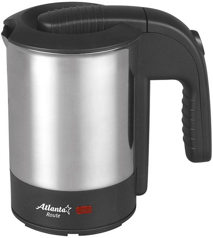 Atlanta ATH-2429, Black электрический чайникATH-2429Atlanta ATH-2429 - простая и практичная модель, незаменима на любой кухне. Чайник мощностью 600 Вт и объемом 0,5 л в считанные минуты вскипятит воду. Модель выполнена из нержавеющей стали, которая при нагревании не выделяет вредных веществ. Закрытый нагревательный элемент. При закипании чайник автоматически выключается. Модель отлично подойдет как для домашней кухни, так и для использования в офисе. Она полностью соответствует общепринятым нормам безопасности.В комплекте - 2 стаканчика.
