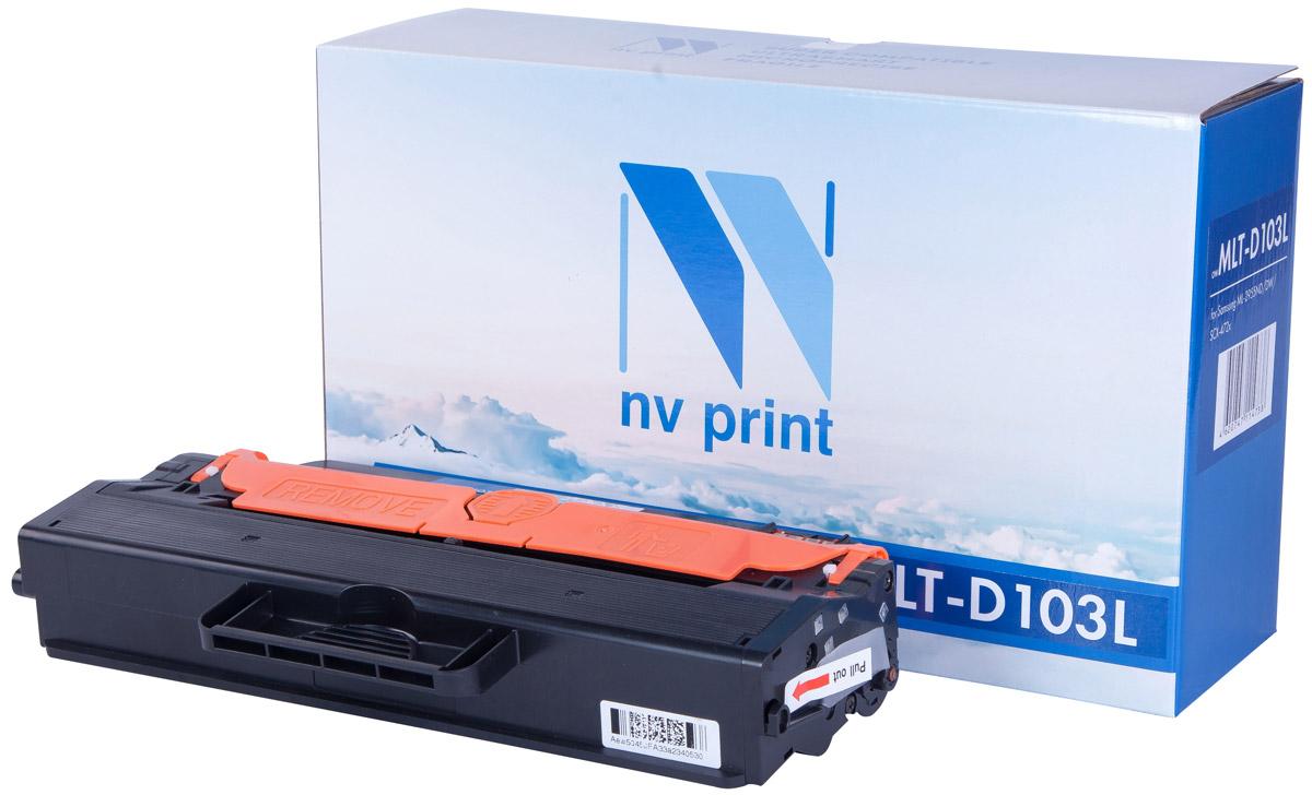 NV Print MLTD103L, Black тонер-картридж для Samsung ML-2950ND/2955ND/DW/SCX-4727FD/4728FD/4729FD/FWNV-MLTD103LСовместимый лазерный картридж NV Print MLTD103L для печатающих устройств Samsung - это альтернатива приобретению оригинальных расходных материалов. При этом качество печати остается высоким. Картридж обеспечивает повышенную чёткость и плавность переходов оттенков цвета и полутонов, позволяет отображать мельчайшие детали изображения.Лазерные принтеры, копировальные аппараты и МФУ являются более выгодными в печати, чем струйные устройства, так как лазерных картриджей хватает на значительно большее количество отпечатков, чем обычных. Для печати в данном случае используются не чернила, а тонер.