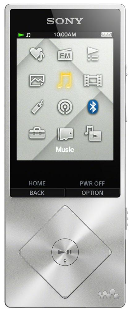Sony NWZ-A17, Silver МР3-плеер17828671Sony NWZ-A17 - компактный МР3-плеерсо встроенной памятью 64 ГБ, а так же с возможностью ее расширения с помощью карт microSDXC.От источника до АС - в устройствах Sony все создано для создания идеальных аудиовпечатлений. Цифровые усилители и специальные динамики для высоких частот точно воспроизводят аудио высокой четкости, приближая звучание к живому звуку. При воспроизведении MP3 сжатые аудиодорожки обрабатываются цифровыми программными средствами для воссоздания первоначального звучания.Встроенный цифровой усилитель S-Master HX гарантирует чистоту звука при воспроизведении аудио высокого разрешения. Чистота и четкость звучания становятся возможными благодаря снижению уровней шумов, зачастую возникающих в диапазонах высоких частот.Технология цифрового улучшения звука DSEE HX восстанавливает качество сжатых аудиофайлов. При сжатии оригинала высокочастотные детали звука теряются. Технология DSEE HX восстанавливает их и обеспечивает высококачественный звук, близкий к качеству звучания на CD.Плеер Walkman с поддержкой аудио высокого разрешения серии A10 - это не только превосходный звук, но и безупречный стиль. Благодаря компактным размерам и небольшому весу его можно с легкостью спрятать его в кармане или сумочке, а панель управления в виде ромба деликатно подчеркивает утонченный стиль этой модели.Удивительно живые впечатления от прослушивания музыки. Технология ClearAudio+ позволяет оптимизировать звук для еще большей реалистичности и яркости ощущений. Максимальная четкость звучания - теперь вы сможете насладиться каждой нотой, расслышать каждый нюанс вокальной партии и ощутить себя на живом концерте.Технология aptX лежит в основе чистого звучания при беспроводном воспроизведении музыки в лучших моделях смартфонов, акустических систем, звуковых панелей, наушников и планшетов. Теперь любители музыки могут в полной мере оценить богатство звучания благодаря технологии aptX: удобство беспроводного воспроизведения звука без потери кач