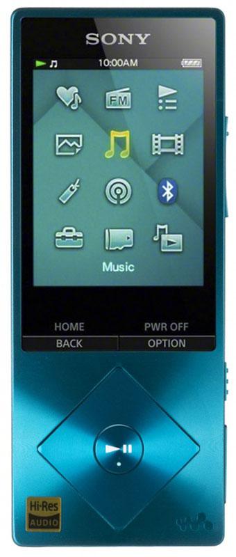 Sony NWZ-A17, Blue МР3-плеер17828672Sony NWZ-A17 - компактный МР3-плеерсо встроенной памятью 64 ГБ, а так же с возможностью ее расширения с помощью карт microSDXC.От источника до АС - в устройствах Sony все создано для создания идеальных аудиовпечатлений. Цифровые усилители и специальные динамики для высоких частот точно воспроизводят аудио высокой четкости, приближая звучание к живому звуку. При воспроизведении MP3 сжатые аудиодорожки обрабатываются цифровыми программными средствами для воссоздания первоначального звучания.Встроенный цифровой усилитель S-Master HX гарантирует чистоту звука при воспроизведении аудио высокого разрешения. Чистота и четкость звучания становятся возможными благодаря снижению уровней шумов, зачастую возникающих в диапазонах высоких частот.Технология цифрового улучшения звука DSEE HX восстанавливает качество сжатых аудиофайлов. При сжатии оригинала высокочастотные детали звука теряются. Технология DSEE HX восстанавливает их и обеспечивает высококачественный звук, близкий к качеству звучания на CD.Плеер Walkman с поддержкой аудио высокого разрешения серии A10 - это не только превосходный звук, но и безупречный стиль. Благодаря компактным размерам и небольшому весу его можно с легкостью спрятать его в кармане или сумочке, а панель управления в виде ромба деликатно подчеркивает утонченный стиль этой модели.Удивительно живые впечатления от прослушивания музыки. Технология ClearAudio+ позволяет оптимизировать звук для еще большей реалистичности и яркости ощущений. Максимальная четкость звучания - теперь вы сможете насладиться каждой нотой, расслышать каждый нюанс вокальной партии и ощутить себя на живом концерте.Технология aptX лежит в основе чистого звучания при беспроводном воспроизведении музыки в лучших моделях смартфонов, акустических систем, звуковых панелей, наушников и планшетов. Теперь любители музыки могут в полной мере оценить богатство звучания благодаря технологии aptX: удобство беспроводного воспроизведения звука без потери качес