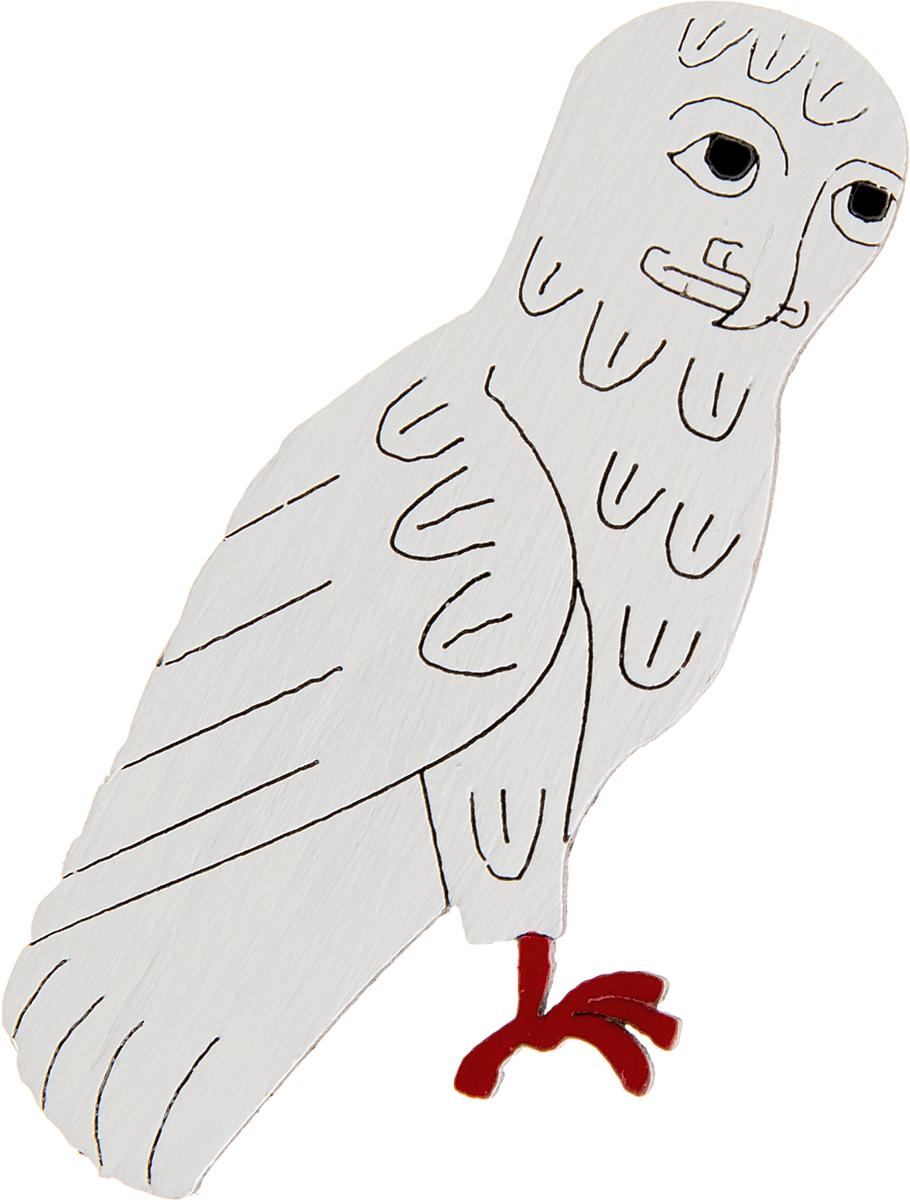 Брошь Сова. Дерево, роспись, ручная работа. РоссияБрошь-кулонБрошь выполнена по рисунку из бестиария Харли (1350 г.),Дизайнеры: Олеся Луконина, Николай Уренцов.Дерево, роспись, ручная работа.Россия.Размер: 6 х 3 см.Тип крепления - булавка с застежкой.Брошь унисекс - подойдет как необычное украшение для мужчин и женщин! Можно носить на одежде, шляпе, рюкзаке или сумке.