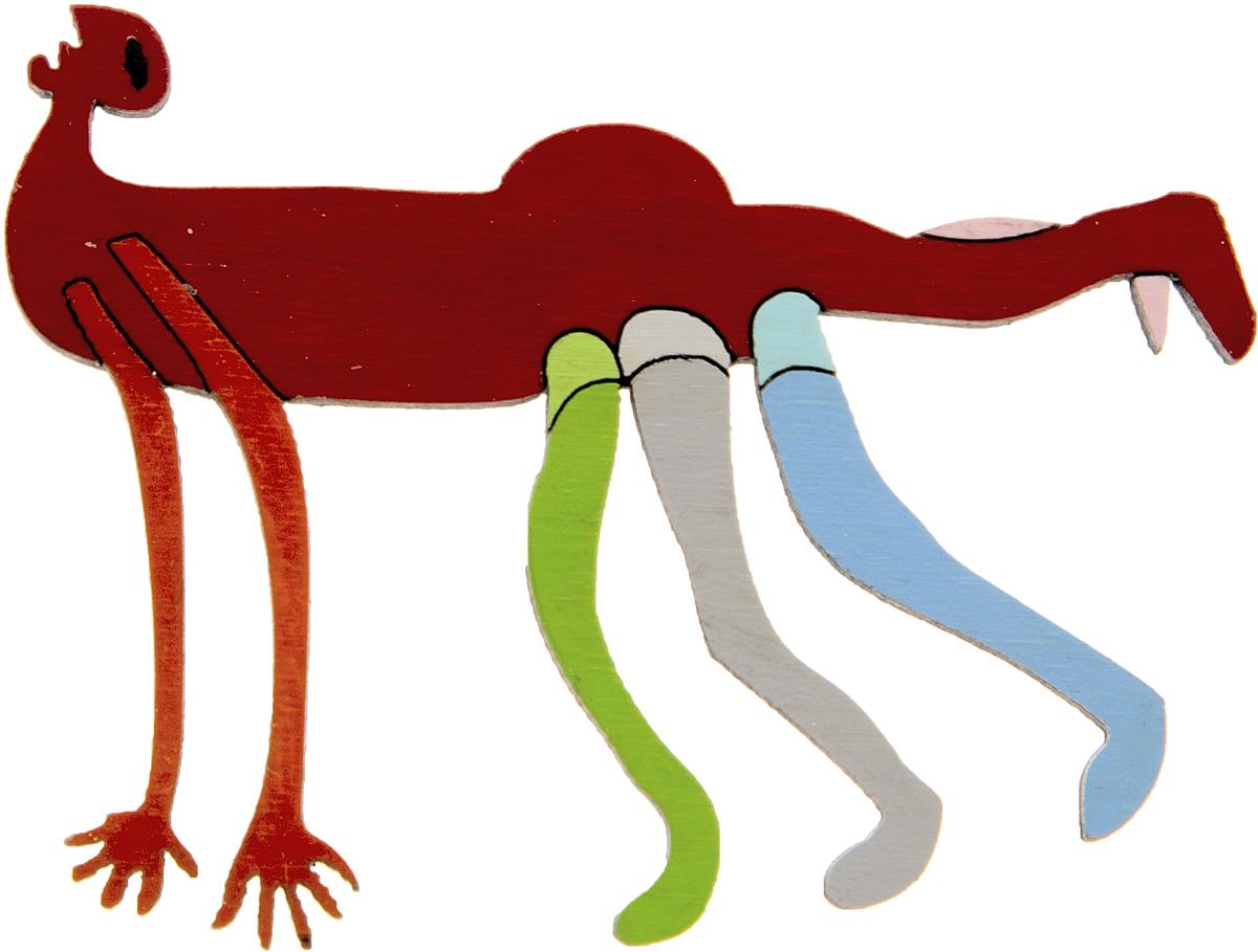 Брошь Многоногий. Дерево, роспись, ручная работа. РоссияБрошь-булавкаБрошь выполнена по картине Уолтера Баттисса Многоногий (1960-1970 гг.).Дизайнеры: Олеся Луконина, Николай Уренцов.Дерево, роспись, ручная работа.Россия.Размер: 6 х 4,5 см.Тип крепления - булавка с застежкой.Брошь унисекс - подойдет как необычное украшение для мужчин и женщин! Можно носить на одежде, шляпе, рюкзаке или сумке.