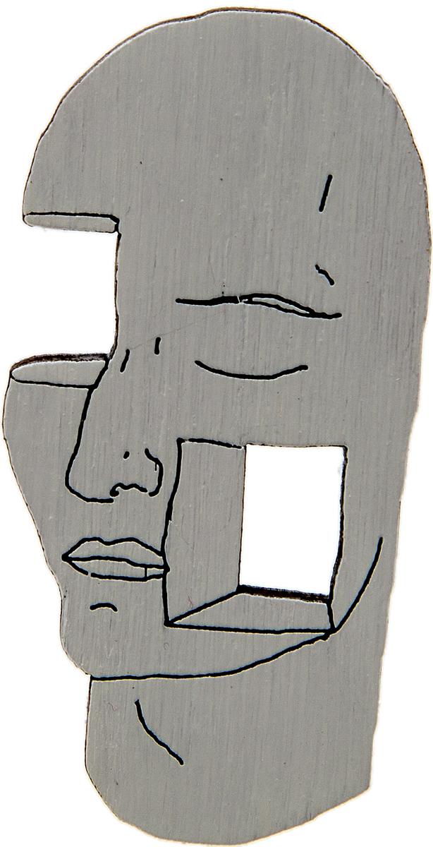 Брошь Лицо гения. Дерево, роспись, ручная работа. РоссияБрошь-кулонБрошь выполнена по картине Рене Магритта Лицо гения(1926 г.).Дизайнеры: Олеся Луконина, Николай Уренцов.Дерево, роспись, ручная работа.Россия.Размер: 5,5 х 3 см.Тип крепления - булавка с застежкой.Брошь унисекс - подойдет как необычное украшение для мужчин и женщин! Можно носить на одежде, шляпе, рюкзаке или сумке.