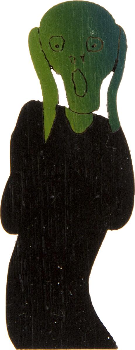 Брошь Крик. Дерево, роспись, ручная работа. РоссияБрошь-булавкаБрошь выполнена по картине Эдварда Мунка Крик, 1893 г.Дизайнеры: Олеся Луконина, Николай Уренцов.Дерево, роспись, ручная работа.Россия.Размер: 5 х 2 см.Тип крепления - булавка с застежкой.Брошь унисекс - подойдет как необычное украшение для мужчин и женщин! Можно носить на одежде, шляпе, рюкзаке или сумке.