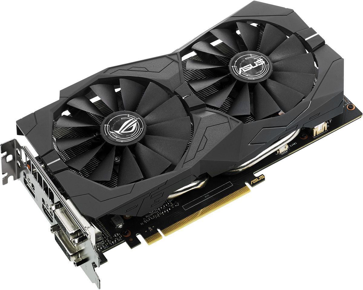 ASUS Strix GeForce GTX 1050 Ti 4G Gaming 4GB видеокарта90YV0A31-M0NA00Видеокарта ASUS Strix GeForce GTX 1050 Ti – это геймерская модель, оснащенная множеством эксклюзивных технологий ASUS. Используемая на ней система охлаждения DirectCU II может похвастать высокой эффективностью за счет вентиляторов с оптимизированной геометрией крыльчатки, а безупречная надежность устройства обеспечивается полностью автоматизированным процессом производства (технология Auto-Extreme). Система подсветки Aura поможет сделать дизайн компьютера незабываемым с помощью оригинальных световых эффектов. В комплект поставки ROG Strix GTX 1050 Ti входят утилиты GPU Tweak II (для настройки и мониторинга параметров видеокарты) и XSplit Gamecaster (для записи и трансляции процесса игры в режиме реального времени).На данную видеокарту установлена эксклюзивная система охлаждения DirectCU II с технологией прямого контакта: медные тепловые трубки кулера непосредственно контактируют с поверхностью графического процессора.Два высококачественных вентилятора с оптимизированной геометрией крыльчатки, входящие в состав системы охлаждения DirectCU II, усиливают воздушный поток и увеличивают статическое давление по сравнению с обычными. Кроме того, благодаря продуманной конструкции радиатора данный кулер способен охлаждать видеокарту при невысоком уровне нагрузки в пассивном режиме, то есть при нулевом уровне шума.Система охлаждения геймерского компьютера может быть неэффективна из-за того, что алгоритм работы корпусных вентиляторов учитывает лишь температуру центрального процессора, в то время как во время длительных игровых сессий температура процессора графического зачастую бывает значительно выше. Чтобы устранить эту проблему, видеокарты серии ROG Strix GTX 1050 Ti оснащаются 4-контактным разъемом для системных вентиляторов с регулировкой на основе температуры графического процессора.Высокому качеству готового устройства способствует полностью автоматизированный процесс производства (технология Auto-Extr