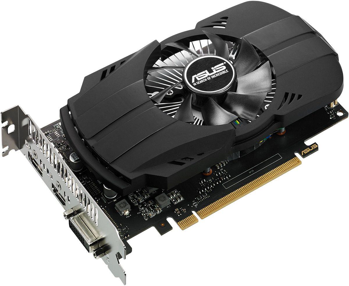 ASUS PH-GTX1050-2G 2Gb видеокарта90YV0AA0-M0NA00ASUS PH-GTX1050-2G - это компактная геймерская видеокарта с высокоэффективным кулером. При ее изготовлении применяются премиальные компоненты, а в комплект ее поставки входит эксклюзивная разгонная утилита GPU Tweak II. Обладая весьма выгодным соотношением цена/производительность, эта модель идеально подходит для соревновательных онлайн-игр, таких как Overwatch, Dota 2, CS Go и League of Legend.Вентилятор с двойным шарикоподшипником, использующийся в кулере видеокарты ASUS Phoenix GeForce GTX 1050, обладает большим сроком службы, чем традиционные вентиляторы с подшипниками скольжения, и поэтому увеличивает долговечность всего устройства.В современных видеокартах ASUS применяются отборные компоненты (технология Super Alloy Power II), которые обладают непревзойденной энергоэффективностью, пониженной рабочей температурой и улучшенными характеристиками. Высокому качеству готового устройства также способствует полностью автоматизированный процесс производства (технология Auto-Extreme).Современные видеокарты ASUS совместимы с эксклюзивной утилитой GPU Tweak II, с помощью которой можно получить полный контроль над графической подсистемой компьютера. Например, новая функция Gaming Booster позволяет моментально выделить все доступные вычислительные ресурсы под 3D-приложение, чтобы обеспечить максимальную производительность.
