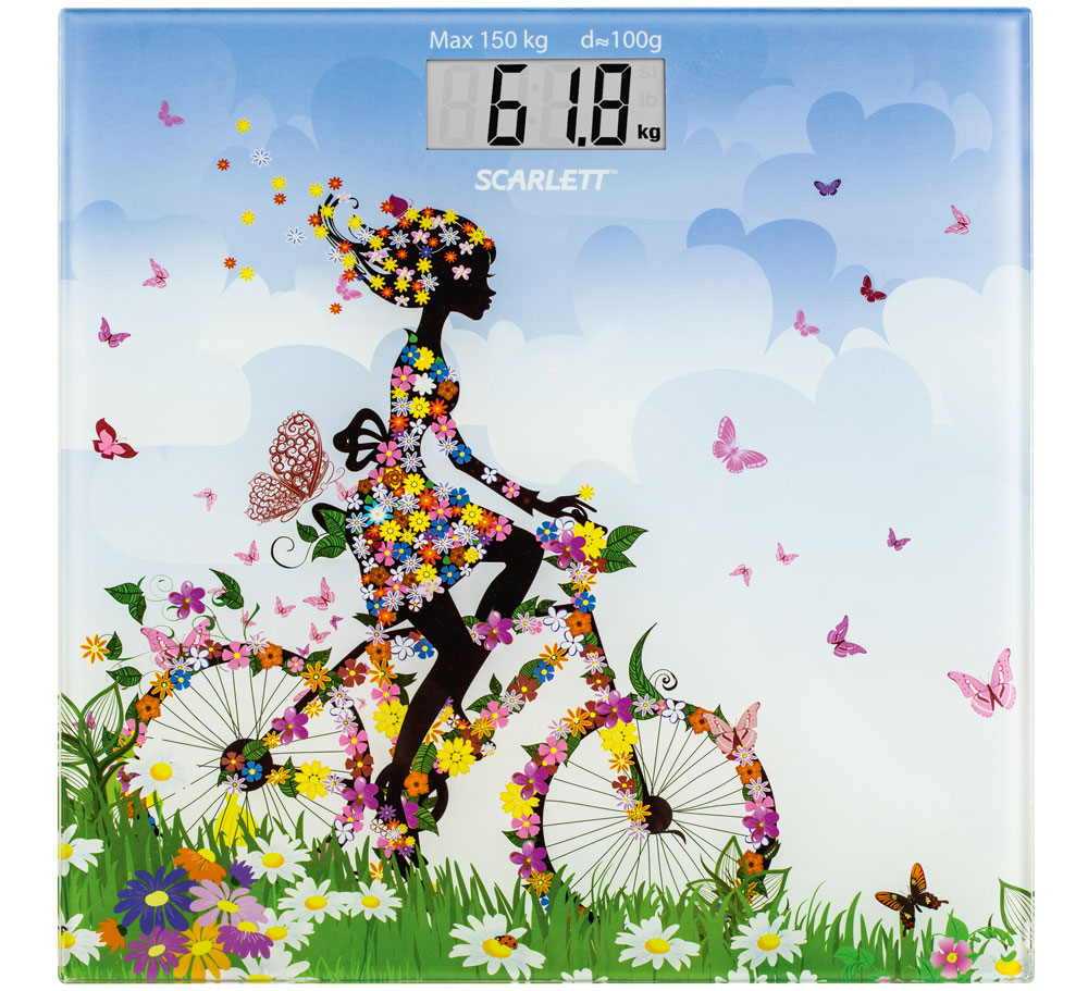 Scarlett SC-BS33E070, Girl on Bike весы напольные - Напольные весы