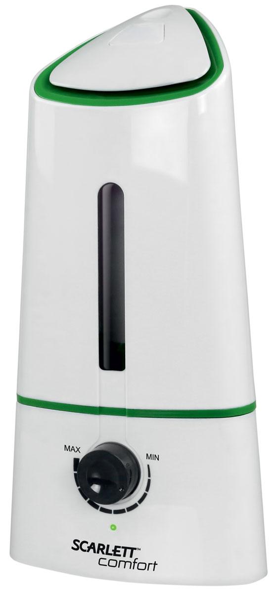 Scarlett SC-AH986M08, White увлажнитель воздухаSC-AH986M08Scarlett SC-AH986M08 - ультразвуковой увлажнитель воздуха. Компактное устройство хорошо подходит для офисных и жилых помещений площадью до 20 м2.Данная модель оснащена долговечной керамической мембраной. Прибор позволяет осуществлять регулирование интенсивности увлажнения.Благодаря встроенному ароматизатору устройство может не только увлажнять воздух, но и насыщать его приятными запахами.Устройство оснащено вместительным резервуаром на 2 литра, этого хватит примерно на 10 часов непрерывной работы.