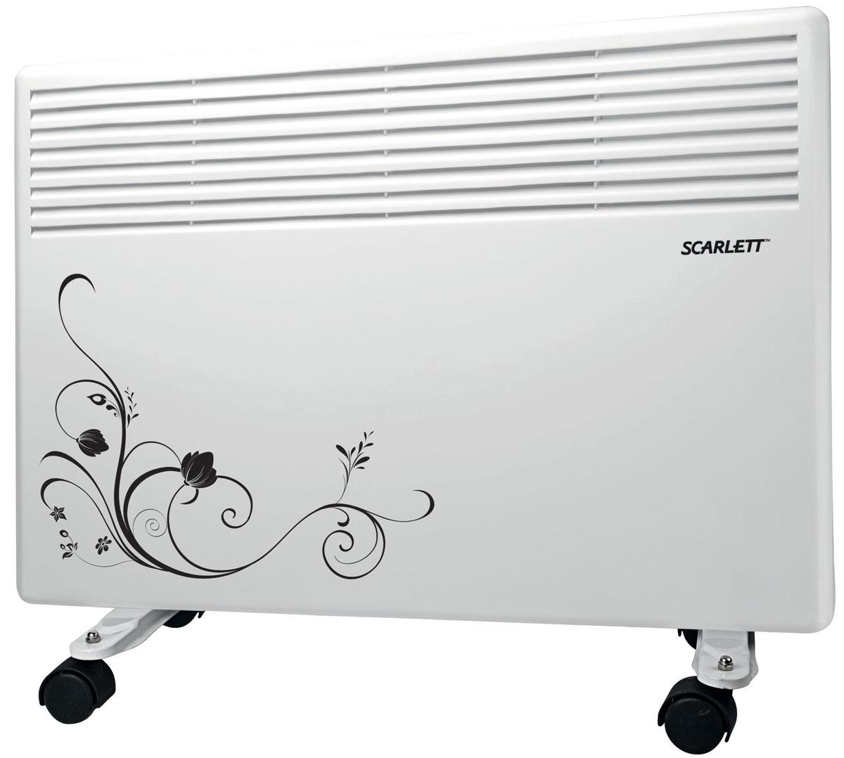 Scarlett SC-2158 обогревательSC-2158Электрический конвектор Scarlett SC-2158 белого цвета имеет классический стильный дизайн, предназначен для бытового использования. Прибор рассчитан для обогрева помещений до 10 м2. Данная модель имеет механический термостат и регулировку температуры. Обогреватель оснащен системой No-Frost от замерзания, а также защитой от перегрева, опрокидывания, попадания брызг и мелкого мусора по классу IP24. Предусмотрено два возможных уровня мощности - 600 Вт и 1000 Вт, работает при напряжении 220 В и частоте тока 50 Гц.