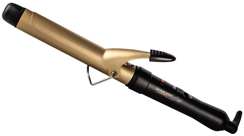 Scarlett SC-HS60597, Black щипцы для завивки волосSC-HS60597Щипцы для волос Scarlett SC-HS60597 просты и удобны в использовании благодаря термоизолированному кончику и световому LED индикатору.Рабочая поверхность щипцов выполнена с использованием керамического покрытия и позволяет создавать локоны щадящим и бережным способом.Отлично подходит для создания идеальных локонов. Необходимо взять прядь диаметром не больше диаметра щипцов. А если диаметр будет больше, то вы получите объемные волны.