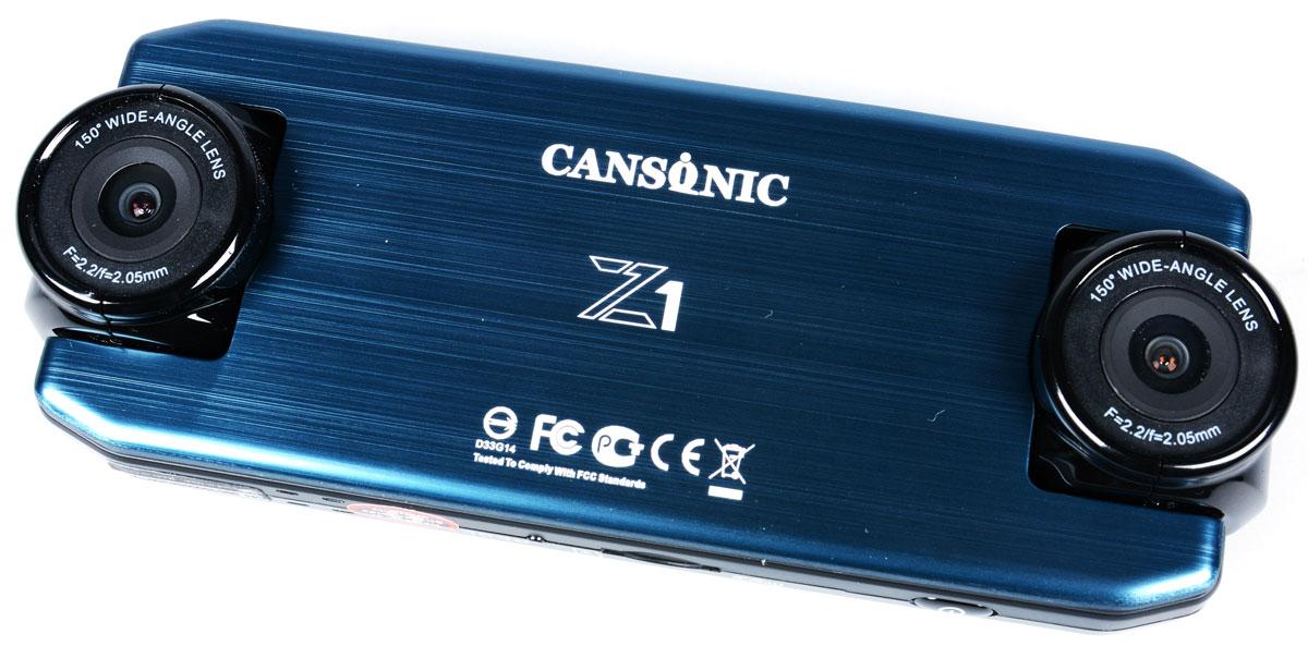 Cansonic Z1 Dual GPS, Black видеорегистратор4627087521264Автомобильный видеорегистратор Cansonic Z1 Dual GPS с двумя поворотными на 180 градусов камерами для съемки дороги и салона автомобиля с поддержкой GPS. Данная модель пишет видео в с двух камер. Как правую так и левую камеру видеоерегистратора вы можете повернуть как в салон так и на дорогу.Устройство имеет две поворотных широкоугольных камеры высокого разрешения с углом обзора 150°. Наличие двух равных по функционалу камер, позволяет охватить 360° обзора в автомобиле.Автомобильный видеорегистратор сочетает в себе уникальный дизайн, надёжность и технологичность. Он способен работать в автономном режиме до 2-х часов. Поддерживается ГЛОНАСС/GPS модуль.Идущие в комплекте Cansonic Z1 Dual GPS два варианта быстросъёмных крепления обеспечат возможность легкого снятия и установки аппарата на место. Небольшие размеры устройства и корпус выполненный в неприметном дизайне дают возможность незаметно установить видеорегистратор.Модель обладает дисплеем размером 2 дюйма. Экран яркий и контрастный. Даёт хорошую возможность для просмотра и настройки регистратора.В Cansonic Z1 Dual GPS встроен G-сенсор, который реагирует на удар, резкое торможение, а также на резкие изменения скорости. G-сенсор гарантирует сохранность видеофайла при записи, которого произошел инцидент.Специально установленная на корпусе кнопка аварийной записи позволит сохранить видео в нестираемую область в памяти вашей карты, что позволит вам не волноваться за сохранность снятых вами материалов.Электронная стабилизация изображения Cansonic Anti-ShakeВстроенный аккумулятор Li-ion 700 мАчФункция WDR