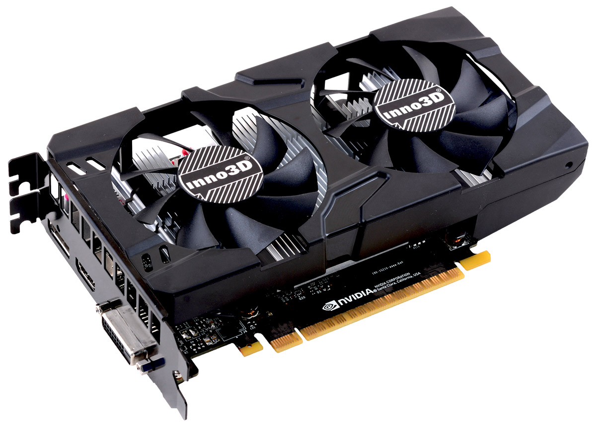 Inno3D GeForce GTX 1050 Twin X2 2GB видеокарта (N1050-1DDV-E5CM)