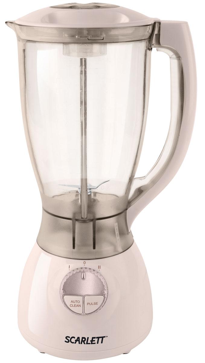 Scarlett SC-4143, Beige блендерSC-4143_BБлендер с чашей Scarlett SC-4143 - вместительный и компактный прибор, который поможет вам приготовить любимые блюда для всей семьи.2-литровый стакан вмещает в себя количество ингредиентов, достаточное для приготовления супа-пюре, коктейля или любимого соуса. Стакан устанавливается на подставку, оснащенную переключателем.Блендер поддерживает импульсный режим, необходимый для деликатного измельчения орехов, кофе и льда. Удобная ручка из пластика позволяет легко переносить чашу в любое место, круглая крышка предотвращает разбрызгивание содержимого.
