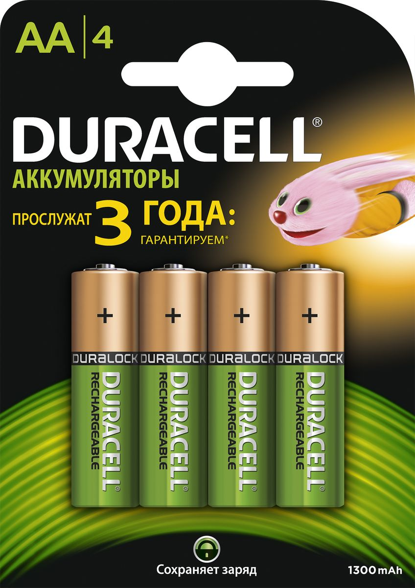 Аккумуляторная батарейка Duracell HR6-4BL, 1300 mAh, 4 шт81485142
