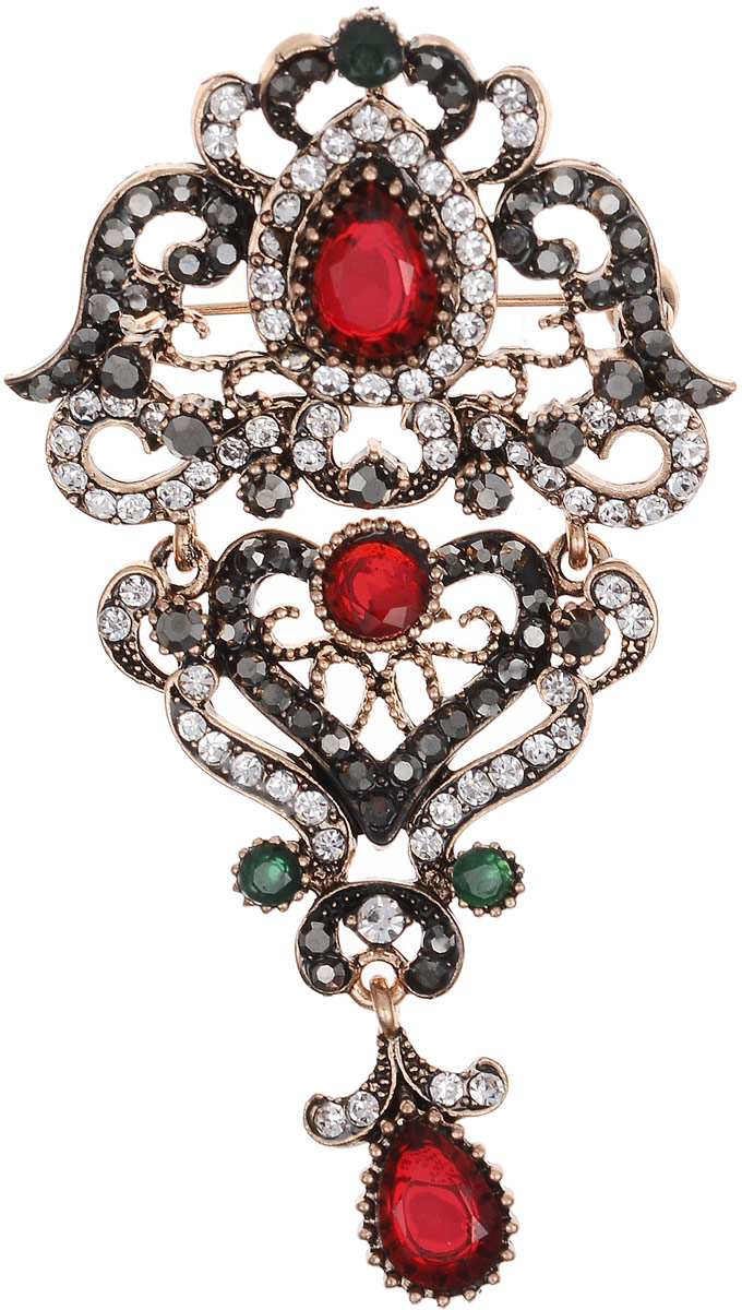 Брошь-кулон Марсела в византийском стиле от Arrina. Разноцветные кристаллы, прозрачные стразы, бижутерный сплав старое золото. ГонконгБрошь-кулонБрошь-кулон Марсела в византийском стиле от Arrina.Разноцветные кристаллы, прозрачные стразы, бижутерный сплав старое золото. Гонконг.Размер: 8 х 4 см. Тип крепления - булавка с застежкой.Имеется петелька для цепочки.