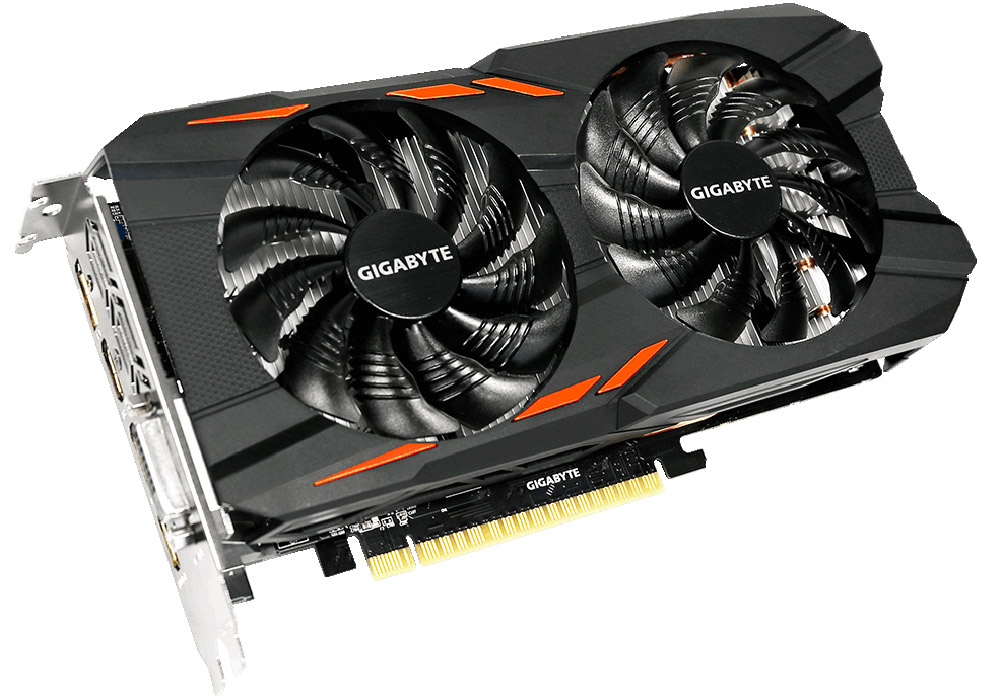 Gigabyte GeForce GTX 1050 Windforce OC 2G 2GB видеокарта