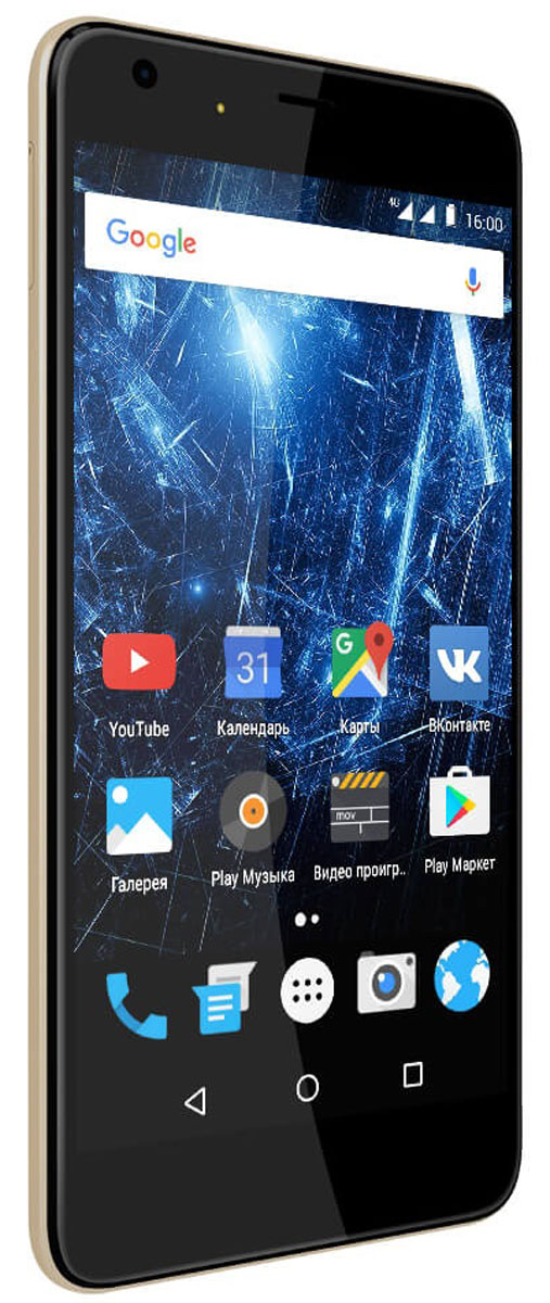 Highscreen Easy XL Pro, Gold23855Highscreen Easy XL Pro - простой и доступный смартфон с большим и ярким экраном, поддержкой 4G/LTE и ГЛОНАСС.Матовый корпус имеет прекрасную эргономику и сбалансированные размеры. Яркий и контрастный 5.5 HD-экран, выполненный по технологии OnCell, обеспечивает естественную цветопередачу и моментальный отклик. Скругленные края (2.5D) помогают легче и быстрее взаимодействовать с ним.Highscreen Easy XL Pro работает на базе чистого Android Marshmallow, компания преднамеренно не ставит дополнительные приложения и игры, чтобы не занимать лишнюю память и дать вам свободу выбора.Ощутите всю прелесть точной навигации, ты сможешь точно определять свое местоположение и быстро прокладывать маршруты из точки A в точку B.Вы сможете управлять домашней техникой благодаря встроенному ИК-порту в твоем Easy XL, просто загрузив специальное приложение из Google Play.Телефон сертифицирован EAC и имеет русифицированный интерфейс меню и Руководство пользователя.