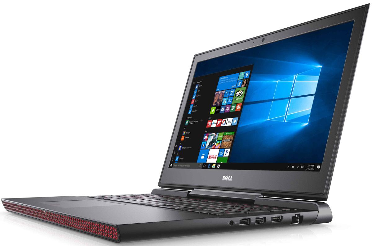 Dell Inspiron 7567, Black (7567-9316)7567-9316Получайте совершенно новые впечатления от развлечений, игр и видео с ноутбуком Dell Inspiron 15 благодаря мощному процессору Intel Core i7 седьмого поколения и графическому адаптеру NVIDIA GeForce GTX1050Ti. Также данный модель оснащена гибридным жестким диском на 1ТБ с 8ГБ SSD кэша.Наслаждайтесь изображением высочайшего качества на дисплее с антибликовым покрытием. Этот дисплей поддерживает разрешение Full HD (1920x1080) и характеризуется широким углом обзора.Предотвратите ошибочные нажатия клавиш с помощью клавиатуры с подсветкой, которая поможет вам играть или работать на компьютере даже в темноте. А чувствительная сенсорная панель обеспечит точную поддержку жестов с превосходным временем реакции.Погрузитесь в мир отличного звука с помощью технологии Waves MaxxAudio Pro. Разработанные корпорацией Dell широкополосные и низкочастотные динамики используют все возможности программного обеспечения для формирования звука студийного качества, поэтому вы не упустите ни малейшего оттенка звука.Точные характеристики зависят от модификации.Ноутбук сертифицирован EAC и имеет русифицированную клавиатуру и Руководство пользователя.