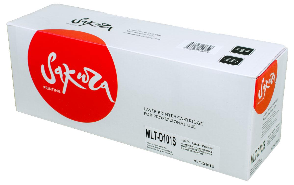 Sakura MLT-D101S, Black тонер-картридж для Samsung ML2160/2161/2162/2165/2166/2168/SCX3400/3401/3405/3406/SF760P/761PSAMLTD101SТонер-картридж Sakura MLT-D101S для лазерных принтеров Samsung ML2160/2161/2162/2165/2166/2168/SCX3400/3401/3405/3406/SF760P/761P является альтернативным решением для замены оригинальных картриджей. Он печатает с тем же качеством и имеет тот же ресурс, что и оригинальный картридж. В картриджах компании Sakura используется химический синтезированный тонер, который в отличие от дешевого тонера из перемолотого полимера, не царапает, а смазывает печатающий вал, что приводит к возможности многократных перезаправок картриджей. Такой подход гарантирует долгий срок службы принтера, превосходное качество и стабильность печати.Тонер-картриджи Sakura производятся при строгом соответствии стандартам ISO 9001 и ISO 14001, что подтверждено международными сертификатами.
