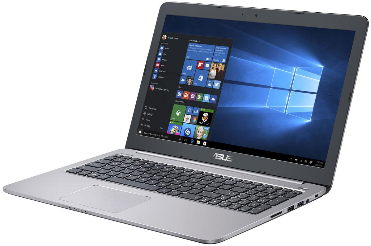 ASUS K501UW-DM067T, Grey Metal (90NB0BQ2-M00870)K501UW-DM067TНоутбук ASUS K501UW - это тонкое и легкое устройство с лаконичным дизайном и текстурированной металлической отделкой. Его высокопроизводительная конфигурация (в которую входит процессор Intel Core и видеокарта NVIDIA GeForce GTX) дополнена эксклюзивными технологиями ASUS, а эргономичная конструкция обеспечит комфорт при использовании.Модель K501UW обладает высокоэффективной системой охлаждения, в состав которой входят два медных радиатора с вентиляторами: для центрального и графического процессоров. Поэтому данному ноутбуку не грозит перегрев даже во время длительной работы в тяжелых приложениях.Ключевой особенностью ноутбука ASUS K501UW с системой охлаждения IceCool является то, что горячие компоненты размещены подальше от рук пользователя, поэтому верхняя часть корпуса всегда остается комфортно прохладной.Тонкий (21,7 мм) и легкий (менее 2 кг) корпус ноутбука K501UW скрывает мощную и функциональную аппаратную начинку, которая обеспечивает высокую производительность, не ставя под сомнение мобильный характер устройства. Красивый, лаконичный дизайн с закругленными гранями выделяет эту модель среди стандартных ноутбуков.В аппаратную конфигурацию ноутбука входит процессор Intel Core i5. Его вычислительной мощности хватит для любой, даже самой ресурсоемкой, задачи.В состав графической подсистемы данного ноутбука входит дискретная видеокарта NVIDIA GeForce GTX 960M. Создание красочных презентаций для работы, просмотр фильмов в высоком качестве, компьютерные игры - все это будет доступно с данным мобильным компьютером.Эксклюзивная технология ASUS Splendid обеспечивает изменение настроек дисплея, чтобы получить максимально качественное изображение в различных приложениях. Для комфортного чтения электронных книг и журналов в мобильном устройстве ASUS реализуется специальный режим Eye Care, в котором уменьшается интенсивность света в синей составляющей видимого спектра.Благодаря эксклюзивной аудиотехнологии SonicMa