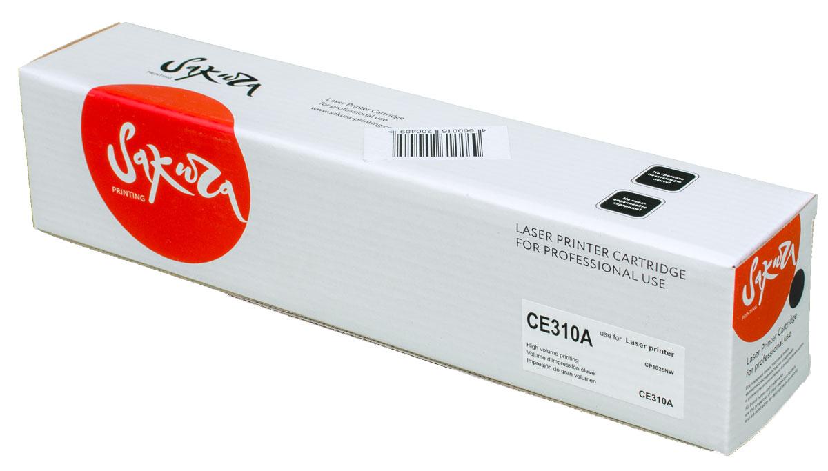 Sakura CE310A, Black тонер-картридж для HP LaserJet Pro CP1025/CP1025NWSACE310AТонер-картридж Sakura CE310A для лазерных принтеров HP LaserJet Pro CP1025/CP1025NW является альтернативным решением для замены оригинальных картриджей. Он печатает с тем же качеством и имеет тот же ресурс, что и оригинальный картридж. В картриджах компании Sakura используется химический синтезированный тонер, который в отличие от дешевого тонера из перемолотого полимера, не царапает, а смазывает печатающий вал, что приводит к возможности многократных перезаправок картриджей. Такой подход гарантирует долгий срок службы принтера, превосходное качество и стабильность печати.Тонер-картриджи Sakura производятся при строгом соответствии стандартам ISO 9001 и ISO 14001, что подтверждено международными сертификатами.