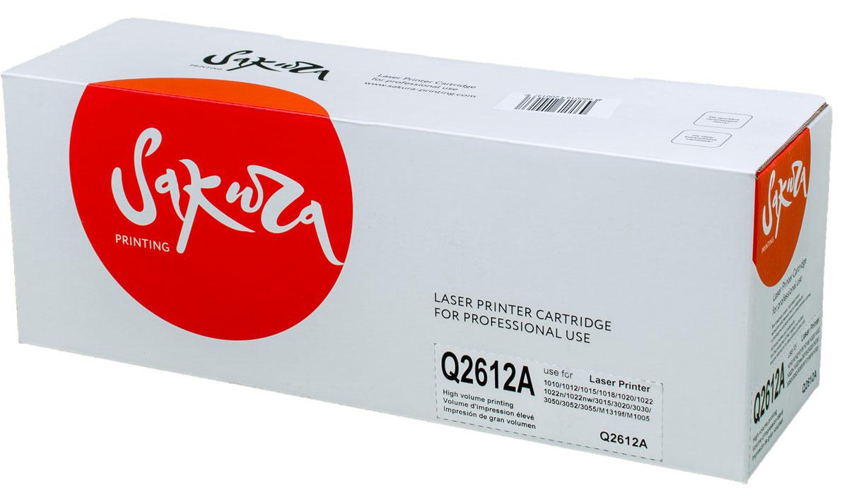 Sakura Q2612A, Black тонер-картридж для HP LaserJet 1010/1020/1022/3015/3020/3030/3050/M1319f/M1005SAQ2612AТонер-картридж Sakura Q2612A для лазерных принтеров HP LaserJet 1010/1020/1022/3015/3020/3030/3050/M1319f/M1005 является альтернативным решением для замены оригинальных картриджей. Он печатает с тем же качеством и имеет тот же ресурс, что и оригинальный картридж. В картриджах компании Sakura используется химический синтезированный тонер, который в отличие от дешевого тонера из перемолотого полимера, не царапает, а смазывает печатающий вал, что приводит к возможности многократных перезаправок картриджей. Такой подход гарантирует долгий срок службы принтера, превосходное качество и стабильность печати.Тонер-картриджи Sakura производятся при строгом соответствии стандартам ISO 9001 и ISO 14001, что подтверждено международными сертификатами.