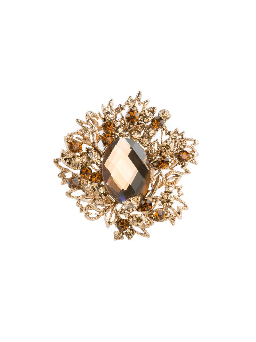 Кольцо для платка Charmante, цвет: античное золото. ZK021Кольцо для платкаОригинальное кольцо для платка Charmante выполнено из металла и декорировано цветными стразами. Аксессуар круглой формы с внутренней стороны дополнен кольцами-держателямиу. Стильное кольцо придаст вашему образу изюминку и подчеркнет индивидуальность.