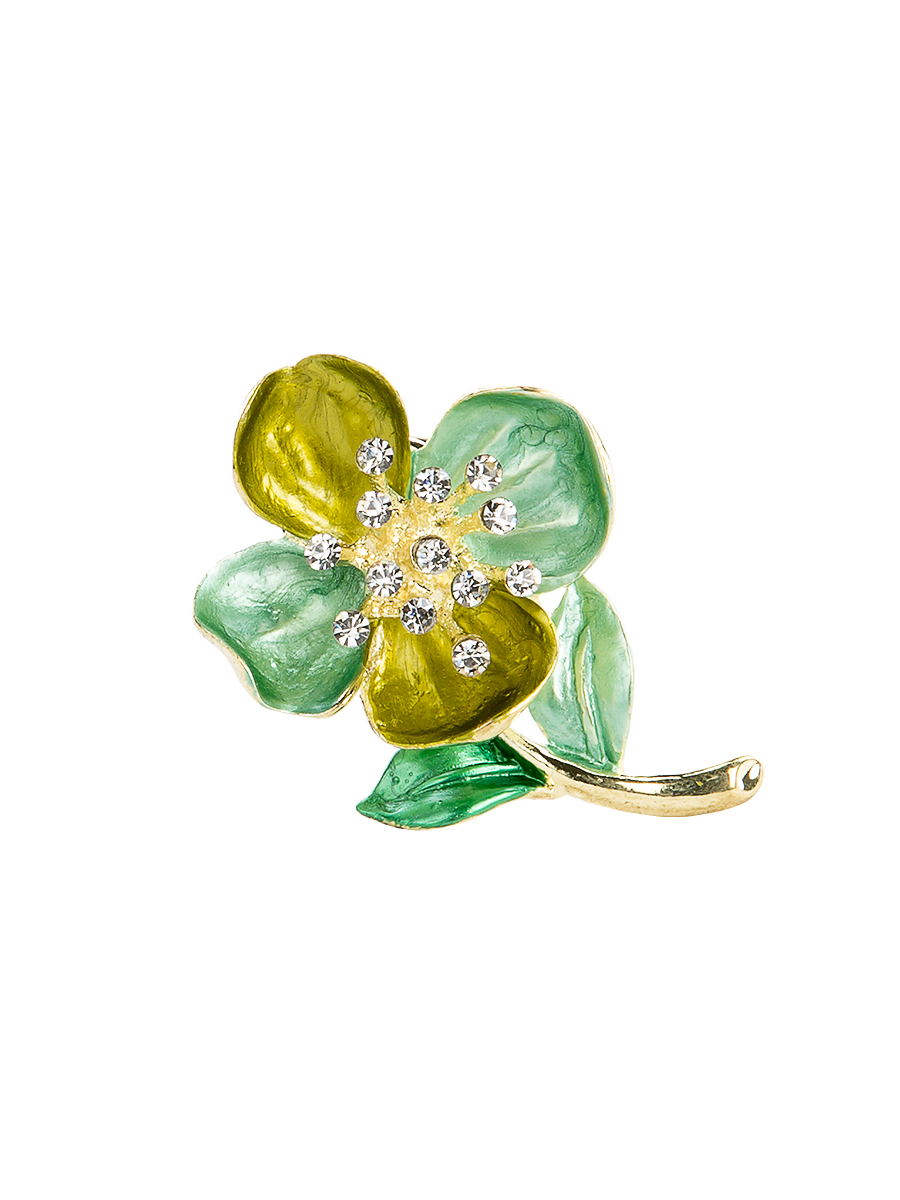 Кольцо для платка Charmante, цвет: зеленый, желтый. ZK051Кольцо для платкаОригинальное кольцо для платка Charmante выполнено из металла в виде цветка. Кольцо декорировано блестящими стразами. Аксессуар с внутренней стороны дополнен кольцами-держателями.Стильное кольцо придаст вашему образу изюминку и подчеркнет индивидуальность.