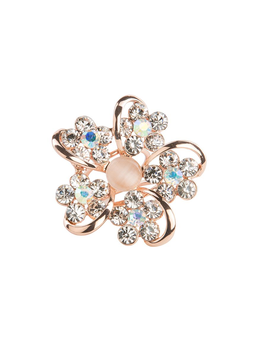 Кольцо для платка Charmante, цвет: золотой, мультиколор. ZK014Кольцо для платкаОригинальное кольцо для платка Charmante выполнено из металла. Кольцо декорировано блестящими стразами и жемчужными бусинами. Аксессуар с внутренней стороны дополнен кольцами-держателями.Стильное кольцо придаст вашему образу изюминку и подчеркнет индивидуальность.