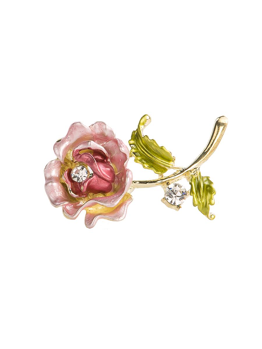 Кольцо для платка Charmante, цвет: розовый. ZK049Кольцо для платкаОригинальное кольцо для платка Charmante выполнено из металла в виде цветка. Кольцо декорировано блестящими стразами. Аксессуар с внутренней стороны дополнен кольцами-держателями.Стильное кольцо придаст вашему образу изюминку и подчеркнет индивидуальность.