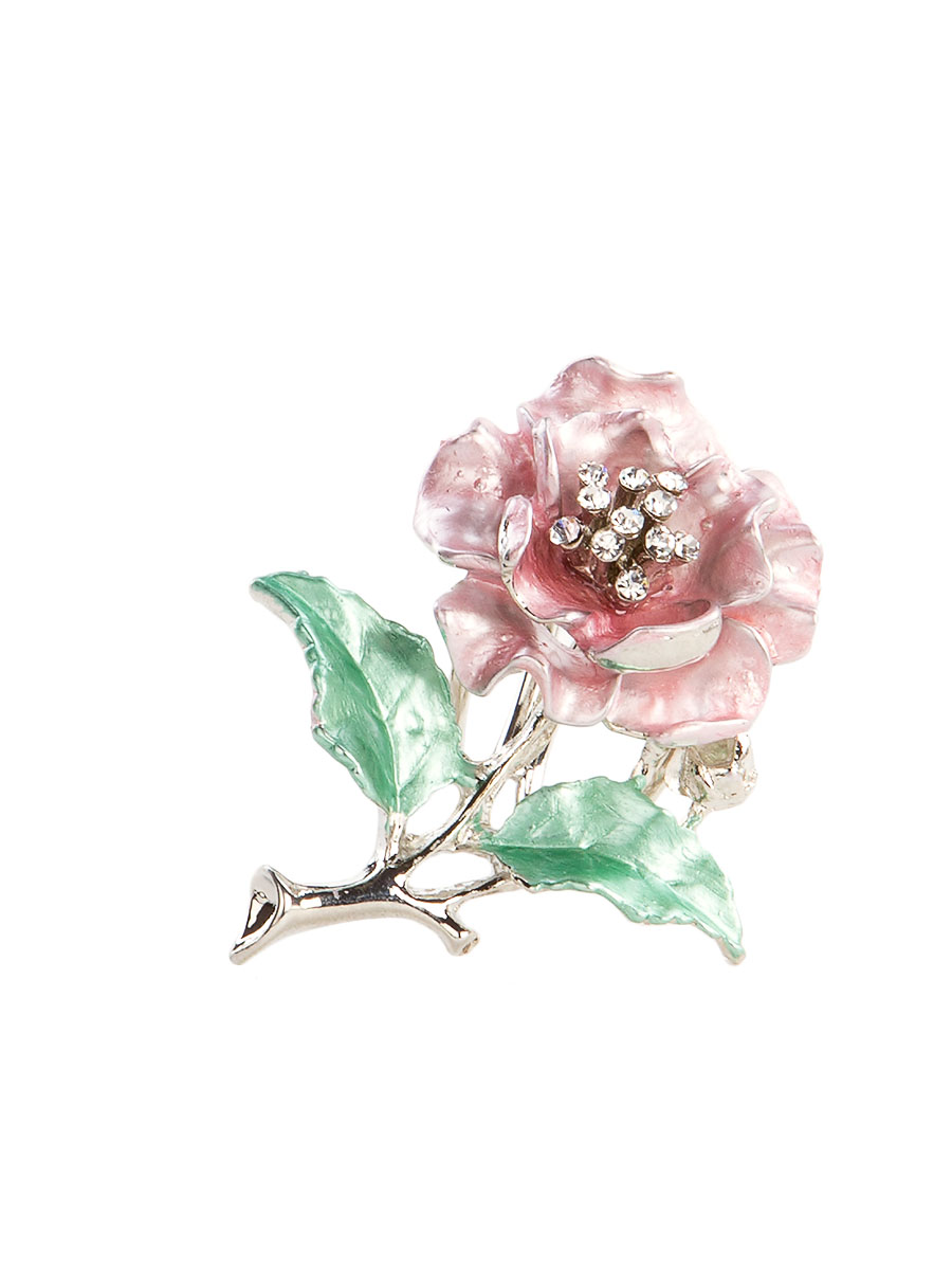 Кольцо для платка Charmante, цвет: розовый. ZK052Кольцо для платкаОригинальное кольцо для платка Charmante выполнено из металла в виде цветка. Кольцо декорировано блестящими стразами. Аксессуар с внутренней стороны дополнен кольцами-держателями.Стильное кольцо придаст вашему образу изюминку и подчеркнет индивидуальность.