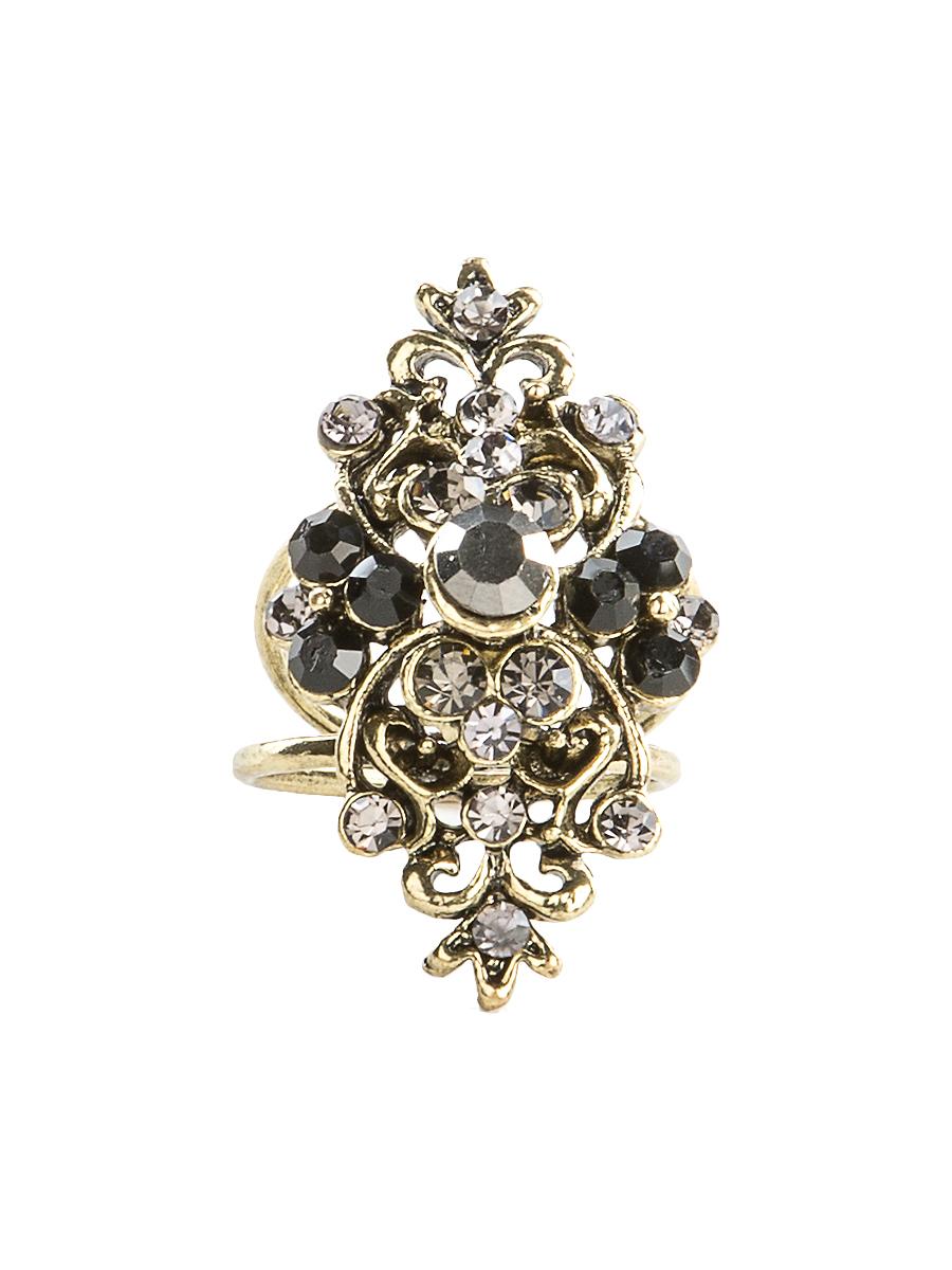 Кольцо для платка Charmante, цвет: черный, золотой. ZK040Кольцо для платкаОригинальное кольцо для платка Charmante выполнено из металла. Кольцо декорировано блестящими стразами. Аксессуар с внутренней стороны дополнен кольцами-держателями.Стильное кольцо придаст вашему образу изюминку и подчеркнет индивидуальность.
