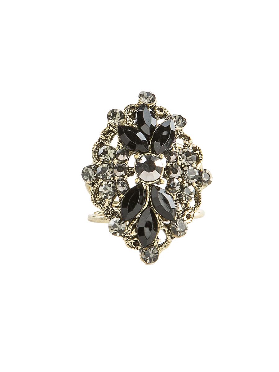 Кольцо для платка Charmante, цвет: черный, золотой. ZK043Кольцо для платкаОригинальное кольцо для платка Charmante выполнено из металла. Кольцо декорировано блестящими стразами. Аксессуар с внутренней стороны дополнен кольцами-держателями.Стильное кольцо придаст вашему образу изюминку и подчеркнет индивидуальность.