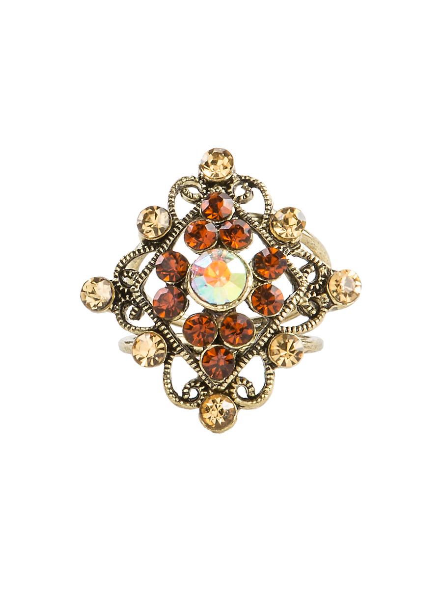 Кольцо для платка Charmante, цвет: янтарный. ZK046Кольцо для платкаОригинальное кольцо для платка Charmante выполнено из металла. Кольцо декорировано блестящими стразами. Аксессуар с внутренней стороны дополнен кольцами-держателями.Стильное кольцо придаст вашему образу изюминку и подчеркнет индивидуальность.