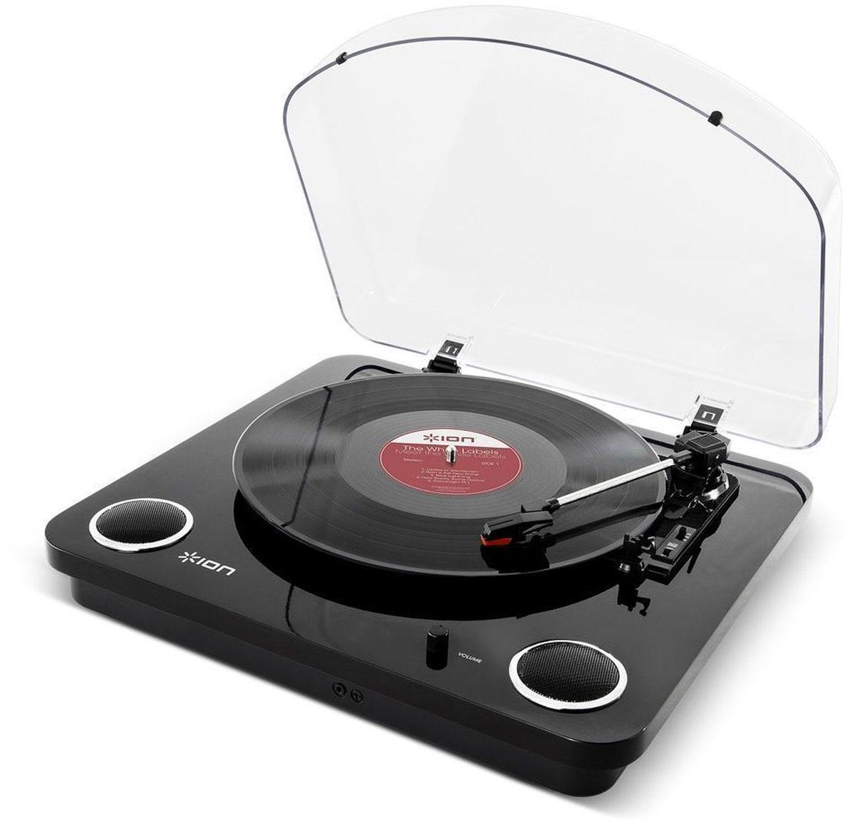 ION Audio Max LP, Black проигрыватель виниловых дисков