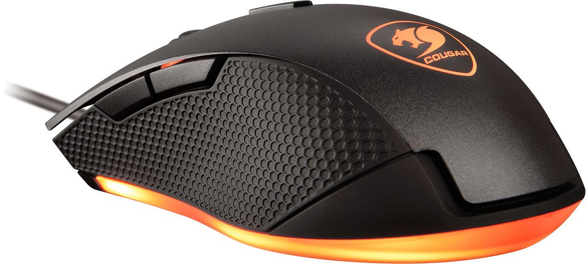 Cougar Minos X3, Black игровая мышь3MMX3WOB.0001Стильная и эргономичная мышь Cougar Minos X3подойдет для любого типа хвата. Сенсорная технология игровой точности 3200 dpi. Высокопроизводительный оптический датчик. Переключатели Omron гарантируют 10 миллионов кликов. Система настройки разрешения dpi On–The–Fly обеспечивает быстрое переключение между различными настройками разрешения. Восемь цветов и 10 различных световых эффектов, для создания особенной игровой атмосферы. Мышь Cougar Minos X3 поможет сохранить все движения под контролем, благодаря качественному нескользящему боковому покрытию из софт-тач пластика.