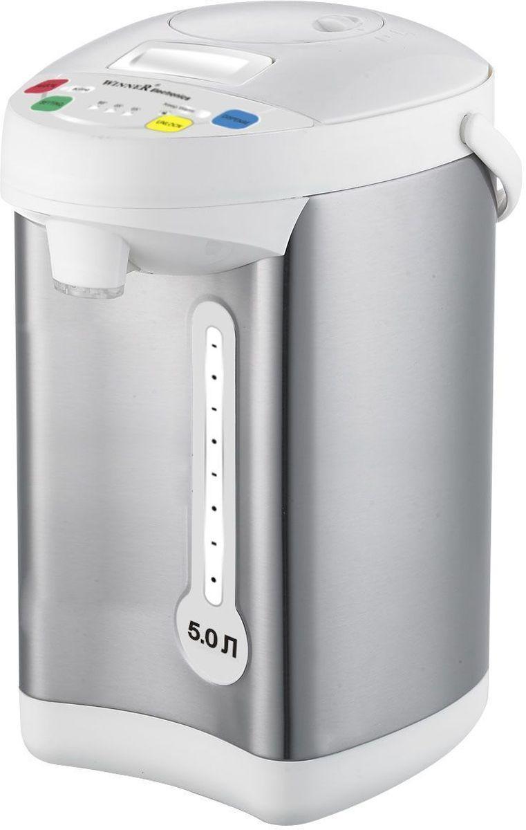 Winner WR-463, Silver White термопотWR-463Термопот Winner WR-463 имеет свойство на длительный период сохранять горячую температуру воды. Яркий, стильный дизайн придаст любой кухне уникальность и эксклюзивность. Термопот экономит ваше время и электроэнергию, а это, согласитесь, является большим преимуществом для каждого домочадца. Если вдруг к вам внезапно заглянули гости, то с этим устройством вы всегда готовы их встретить.