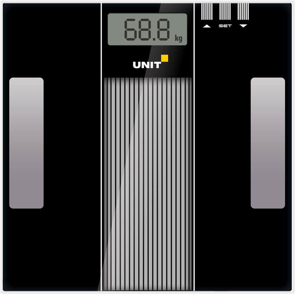 Unit UBS-2210, Black весы напольные электронные unit ubs 2200 pale grey весы напольные