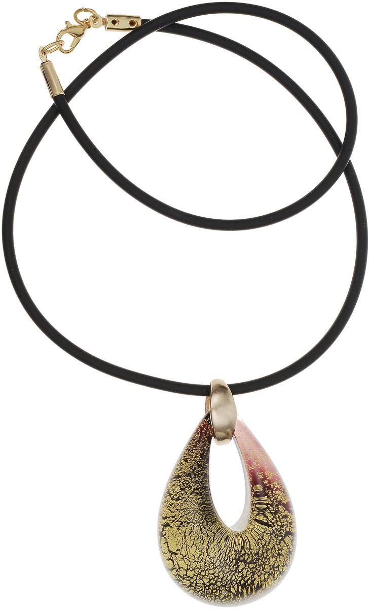 Кулон на шнурке Золотая капля. Муранское стекло, шнурок из каучука, ручная работа. Murano, Италия (Венеция)Брошь-инталияКулон на шнурке Золотая капля.Муранское стекло, шнурок из каучука, ручная работа.Murano, Италия (Венеция).Размер:Кулон - 5 х 3,5 см.Шнурок - полная длина 45 см.Каждое изделие из муранского стекла уникально и может незначительно отличаться от того, что вы видите на фотографии.