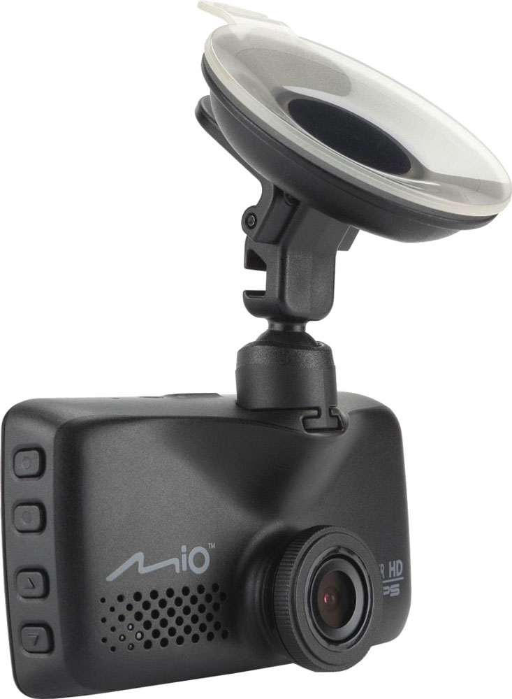 Mio Mivue 618, Black видеорегистраторMivue 618В модели Mivue 618 основной акцент Mio сделали на качестве и четкости изображения. Для этого в устройстве увеличен размер матрицы и установлена новая светосильная оптика. А объектив оснащён не только стеклянными линзами , но и инфракрасным фильтром, благодаря чему видео становится более естественным. Наличие GPS-приемника, позволяет реализовать функцию умного оповещения о стационарных камерах контроля скорости.Широкий угол обзора 140° позволяет получить полную картину всегда и везде. Ручная установка экспозиции видеорегистратора позволяет в сложных условиях освещённости, таких как снегопад или яркие солнечные лучи, регулировать яркость видео.Передовая оптическая система состоит из 5 высококачественных стеклянных линз и инфракрасного фильтра. Они пропускают больше света и создают более яркую и чёткую картинку. Апертура f/2.0 обеспечивает контрастное и яркое отображение даже при плохом освещении.Чтобы не отвлекать вас во время вождения, на дисплее будет указана текущая скорость движения и точное время. При приближении к камерам контроля скорости, на экране появится предупреждение об ограничении.Запатентованное умное оповещение SmartAlerts о камерах контроля скорости заранее предупреждает водителя. Дистанция до камеры выбирается автоматически в зависимости от вашей скорости.Контроль за соблюдением скорости позволяет настроить лимит допустимой скорости, при превышении которой, вы услышите звуковой сигнал.Благодаря встроенному аккумулятору и технологии определения движения, видеорегистратор автоматически начинает запись, когда что-то происходит в кадре. Даже если никого не будет в машине, там останется надежный свидетель. При срабатывании датчика удара, видеорегистратор мгновенно начинает запись нестираемого видео для последующего анализа события и помещает его в нестираемый буфер памяти.Наличие встроенного GPS приемника в видеорегистраторе позволяет непрерывно записывать информацию о местоположении, скорости и высоте над уро