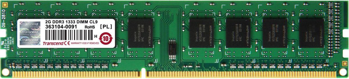 Transcend DDR3 DIMM 2GB 1333МГц модуль оперативной памяти