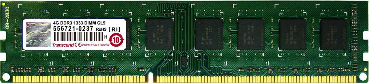 Transcend DDR3 DIMM 4GB 1333МГц модуль оперативной памяти (TS512MLK64V3N)