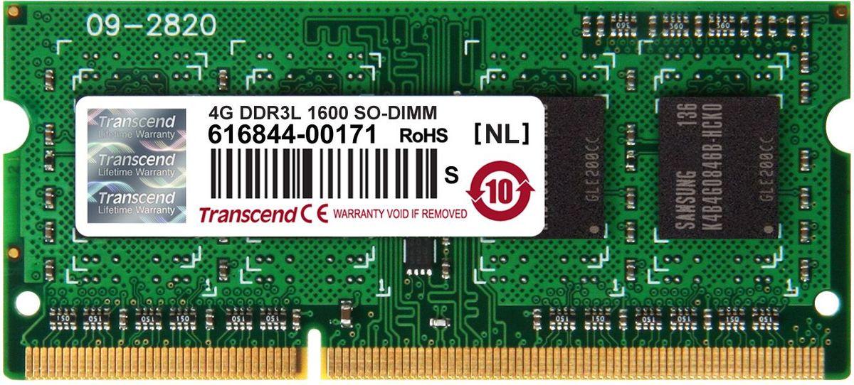 Transcend DDR3L SODIMM 4GB 1600МГц модуль оперативной памятиTS512MSK64W6HМиниатюрные размеры модуля памяти Transcend DDR3L SODIMM 4GB делают его подходящим для использования в ноутбуках. Частота 1600 МГц обеспечивает его высокую производительность (этот параметр легко можно отследить с помощью стандартного теста, проведенного любой операционной системой). Установка проста, не занимает много времени и не требует от вас наличия специальных знаний и умений. Модуль изготовлен из высококачественного текстолита, благодаря чему обладает очень высокой прочностью и долговечностью.Количество ранков: 1