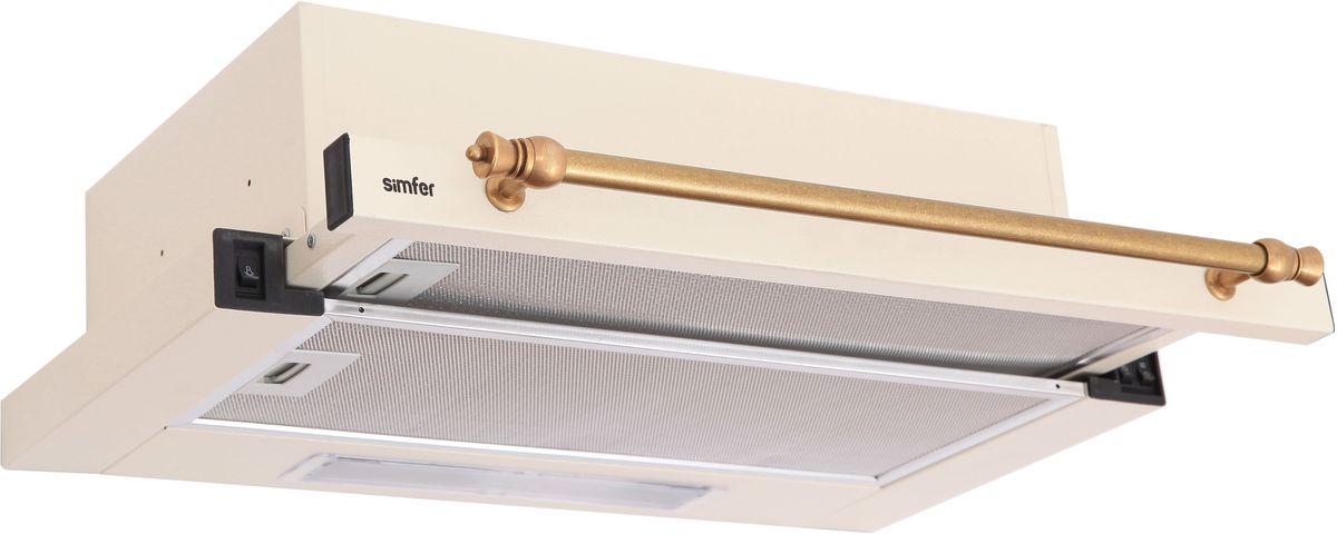 Simfer 6001W вытяжка6001WВытяжка Simfer 6001Wпроста в использовании и уходе. Она работает в комбинированном режиме: отвода в вентиляцию и циркуляции воздуха. Антивозвратный клапан и установленный жировой фильтр защитит двигатель вытяжки, вентилятор и отводящие трубы от скопления сажи, поможет создать комфортную атмосферу в помещении и обеспечивая тихую и бесперебойную работу бытовой техники.Для освещения пространства над плитой вытяжка оснащена галогеновым светильником, несомненно, повышая комфорт и делая модель более удобной в использовании.Вытяжка двухмоторная, трехскоростная, с низким уровнем шума, что позволяет выбрать оптимальный режим, в зависимости от условий и эксплуатации.Кол-во скоростей: 3Галогеновое освещение 2х25 Вт