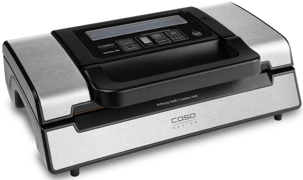 CASO FastVAC 500 вакуумный упаковщикFastVAC 500Вакуумный упаковщик CASO FastVac 500 имеет мощный двухпоршневой насос для продолжительного использования и больших объемов работы. Он оснащен удобнойручкой для быстрого запирания и отпирания вакуумной камеры. Мощность всасывания достигает 20 литров в минуту, а степень вакуума 90% (-0,9 бар). Для удобства есть выбор автоматического и ручного управления вакуумированием и сваркой пакетов шириной до 30 сантиметров. Устройство обеспечивает прочную сварку пакетов двойным швом и установку разного времени сварки для сухих и влажных продуктов. Для упаковки может быть использована доступная в продаже структурированная полиэтиленовая пленка в рулонах или готовые пакеты не более 30 см в ширину и длиной по мере необходимости.