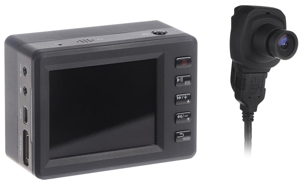 Axiom Polis CAM 1100 FullHD, Black видеорегистраторPOLIS CAM 1100Axiom Polis CAM 1100 идеально подойдет не только для водителей, но скорее для полицейских и работников частных охранных предприятий, так как съемка ведется на выносную камеру, разрешение которой 1920x1080, угол обзора широкий - 140 градусов. Как днем, так и ночью видеорегистратор показывает достойный уровень съемки.Axiom Polis CAM 1100 имеет внушительный объем аккумулятора в 3600 мАч, который обеспечивает 5 часов непрерывной съемки.Видеорегистратор имеет датчик движения, позволяющий избирательно записывать видео, только если в зоне съемки произойдет какое-либо действие. В случае чего, записанное видео можно просмотреть на экране устройства . Видеорегистратор поддерживает карты памяти SD емкостью до 32 ГБ.